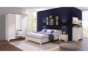 Sypialnia BERG bez materaca. Zestaw 12