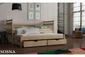 Łóżko piętrowe 2-osobowe EDEN 90/190 + materace