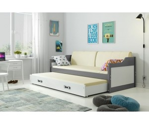 Łóżko parterowe 2-os DOROTA 90/200 + materace (B)