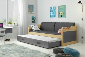 Łóżko parterowe 2-os DOROTA 80/190 + materace (B)