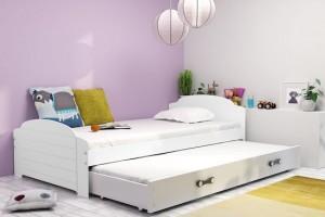 Łóżko parterowe 2-os LUCJA 90/200 + materace (B)