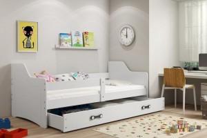 Łóżko parterowe 1-os SOFIA 80/160 + materace (B)