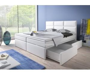 Łóżko tapicerowane INTERIA 140/200 + 2 szuflady, materace kieszeniowe