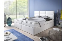 Łóżko tapicerowane INTERIA 140/200 + 4 szuflady, materac bonell