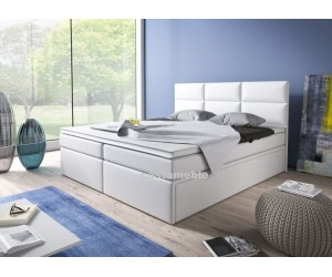 Łóżko tapicerowane INTERIA 180/200 + 4 szuflady, materace bonellowe