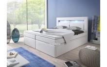 Łóżko tapicerowane INTERIA 160/200 + 4 szuflady, materace kieszeniowe