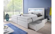 Łóżko tapicerowane MILO 180/200 + 4 szuflady, materace kieszeniowe