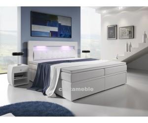 Łóżko tapicerowane MILO 3 140/200 + 2 szuflady, materace bonellowe