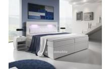 Łóżko tapicerowane MILO 3 140/200 + 4 szuflady, materace bonellowe