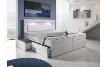 Łóżko tapicerowane MILO 3 160/200 + 4 szuflady, materace kieszeniowe