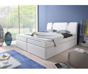 Łóżko tapicerowane BOXRIVA 180/200 + 2 szuflady, materace kieszeniowe