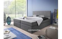 Łóżko tapicerowane LINE 140/200 + 2 szuflady, materace bonellowe