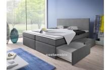Łóżko tapicerowane LINE 180/200 + 2 szuflady, materace kieszeniowe