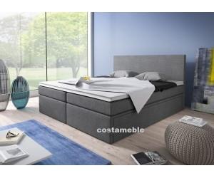 Łóżko tapicerowane LINE 180/200 + 4 szuflady, materace bonellowe