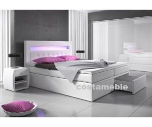 Łóżko tapicerowane MILANO 2 180/200 + 2 szuflady, materace keszeniowe