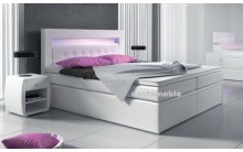 Łóżko tapicerowane MILANO 2 140/200 + 4 szuflady, materace bonellowe