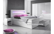 Łóżko tapicerowane MILANO 2 160/200 + 4 szuflady, materace kieszeniowe