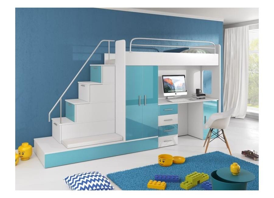 Meble Młodzieżowe Kind 5 Z łóżkiem Na Antresoli I Wysuwanym