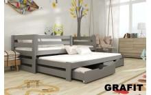 Łóżko piętrowe KUBA 90x200 + materace