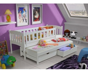 Łóżko piętrowe AMELIA 90x190 + materace