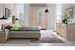 Sypialnia CEZAR z materacem -zestaw 3