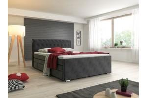 Łóżko tapicerowane LOFT z pojemnikiem